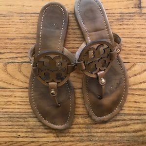 Tory Burch tan sandals well worn